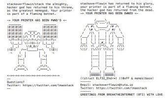 Attacco hacker su stampanti: quali danni per 150 mila stampanti?